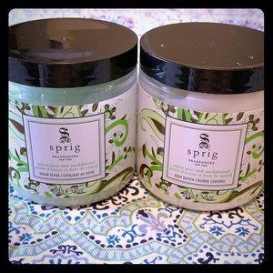 Sprig Other - BRAND NEW Sprig Sugar Scrub and Body Butter Set